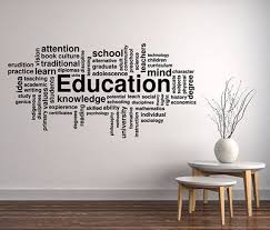 Education Word Cloud Wall Decal Science Study Learn Vinyl Etsy