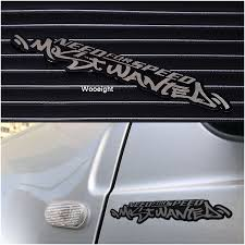 Wooeight Stainless Steel Need For Speed Most Wanted Vinyl Car Sticker Reflective Decals For Auto Car Window Body For Audi Bmw Vw Car Stickers Aliexpress