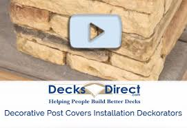 Faux Stone Post Covers Faux Stone Post Sleeves Decksdirect