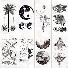 Wodoodporna Mapa Swiata Tymczasowa Naklejka Tatuaz Kobiety Drzewo