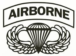 Airborne Vinyl Decal With Wings Symbol Etsy