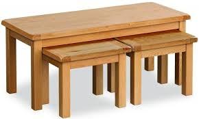 salisbury oak long john nest of tables