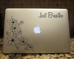 Just Breathe Floral Decal Laptop Custom Vinyl Car Window Vinyl Sticker Customvinyldecals4u