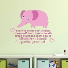 Zoomie Kids Learn How Elephant Cute Vinyl Wall Decal Wayfair