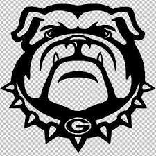 Uga University Of Georgia Bulldogs Bulldog Head Vinyl Decal Sticker Football Ebay