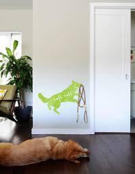 Dog Hook Up Wall Decal In Chalk Or Dry Erase Blik