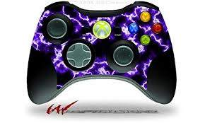 Amazon Com Xbox 360 Wireless Controller Decal Style Skin Electrify Purple Controller Not Included Video Games