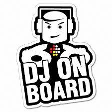 Dj On Board Sticker Decal Car Vinyl Sign Window Cute 6329en Ebay