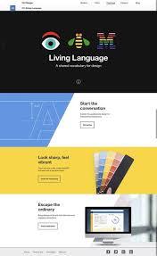 ibm design language system simple website design web design