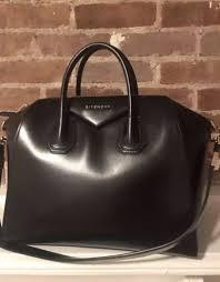 givenchy antigona medium black leather