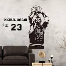 Michael Jordan 23 Decal Wall Sticker Art Home Decor Basketball Sports St41