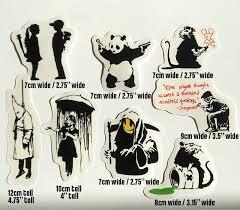 Banksy Sticker Set On Clear Vinyl Decal Pack Car Street Art Graffiti Panda Skate Ebay