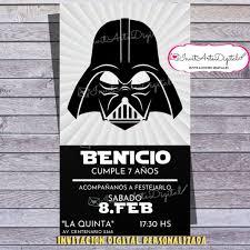 Invitacion Digital Personalizada Darth Vader Star Wars 90 00
