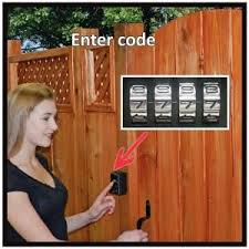 Yard Lock Is A Keyless Wood Gate Lock Kit That Will Lock And Unlock A Wooden Gate From Either Side Secure Convenient And I Gate Locks Wood Gate Wooden Gates