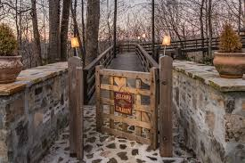 wooden garden gates rustic entry