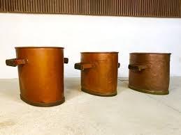 large antique copper fireplace log