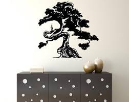 Bonsai Wall Decal Etsy