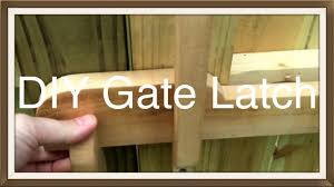 Wood Gate Latch Youtube