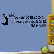 Basketball Dunk Lebron James Inspiring Quotes Wall Sticker Boys Room Art Decor Ebay