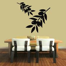 Shop Olive Tree Stickers Kitchen Wall Decor Floral Interior Home Vinyl Art Decor Kids Room Sticker Decal Size 48x48 Color Black Overstock 14478247