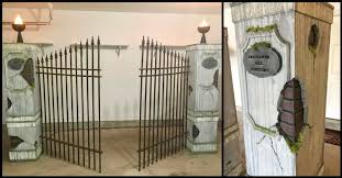 Man Builds Diy Cemetery Gate For Halloween