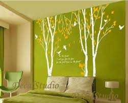 Birch Tree With Flying Birds Vinyl Wall Decal Home Graphic Art Olive Tree Graphic Vinyl Wall Decals Earthy Home Decor