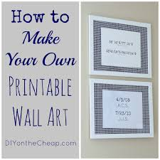 how to make your own printable wall art