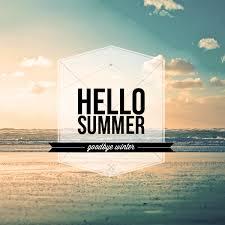 goodbye winter and hello summer
