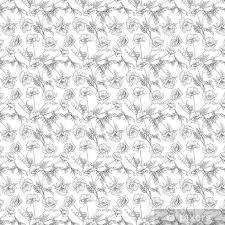 Behang Naadloze Patroon Met Poppy Bloemen In Botanische Vintage