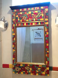 mosaic mirror with salvaged mirror and