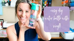 Easiest Diy Craft Diy Water Bottle With Vinyl And Your Cricut Youtube