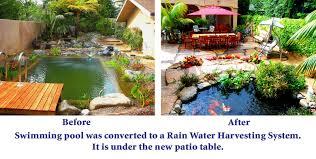 rainwater harvesting pond trade