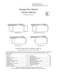 garage door opener user manual