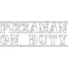 Pizzaman On Duty Pizza Delivery Funny Car Window Vinyl Decal Sticker Vivid Blue Archives Midweek Com