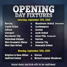 Premier League fixtures: What are opening day matches and who do Man Utd,  Chelsea and Arsenal play?