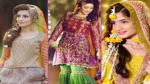 mehndi dress design 2019 for girl