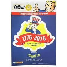 Fanwraps Fallout 76 Tricentennial Logo Window Decal Target