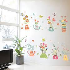 Removable Vinyl Decal Art Mural Flower Pot Home Living Room Decor Wall Sticker Walmart Com Walmart Com