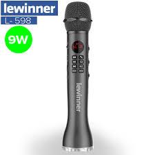 Lewinner L 598 Micro Không Dây Cầm Tay Loa Karaoke Bluetooth Màn Hình Hiển  Thị ĐÈN LED Thẻ TF Hát Đầu Ghi|Míc