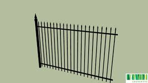 Wrought Iron Fence Panel With Post 3d Warehouse