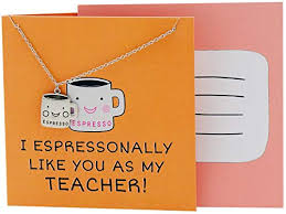 com quan jewelry teacher necklace gifts for coffee lover