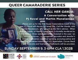 CALL HER GANDA: A Conversation with PJ Raval and Martin Manalansan ...