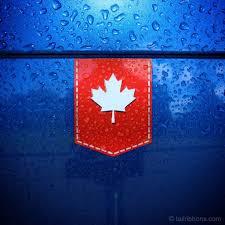 Canada Maple Leaf Car Sticker Tailribbons