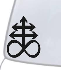 Leviathan Cross Vinyl Decal Sticker Car Back Window Bumper Satanic Symbol Sulfur Ebay