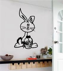Easter Bunny Vinyl Decal Wall Stickers
