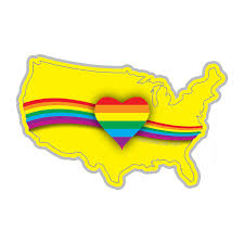Rainbow Heart Usa Decal Dukes Decals