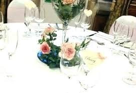 wine glass centerpieces centerpiece