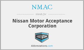 nmac nissan motor acceptance corporation