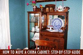 how to move a china cabinet step by
