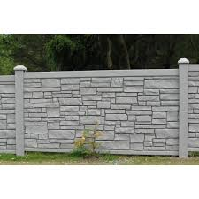 Simtek 4 Ft H X 8 Ft W Ecostone Gray Composite Fence Panel Fp48x96gry The Home Depot
